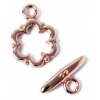 Toggle Fancy Flower 13mm Copper